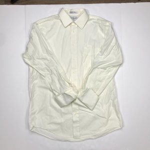 Vintage Burberrys french cuff white button shirt